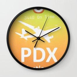 PDX Portland airport Wall Clock
