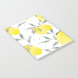 Lemon Poppy Notebook