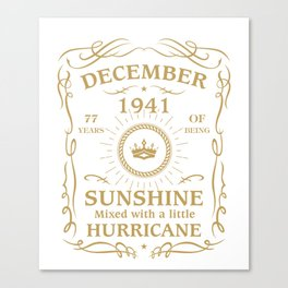 December 1941 Sunshine mixed Hurricane Canvas Print