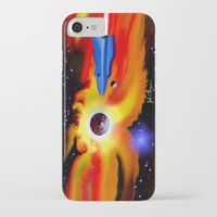spaceship iPhone & iPod Cases featuring Spaceship by JT Digital Art