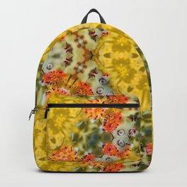 Marigold Kaleidoscope Photographic Pattern #1 Backpack