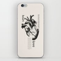 anatomical heart iPhone & iPod Skins featuring Anatomical Heart by jess