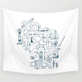Wisconsin Up North Collage Wall Tapestry