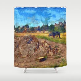 Luca On The Links Shower Curtain
