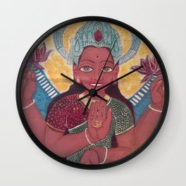 LAKSHMI-Goddess of Prosperity Wall Clock