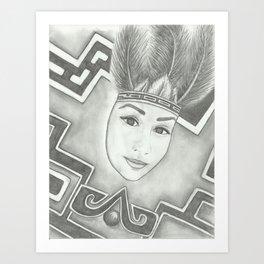 Princesa Aztec Art Print