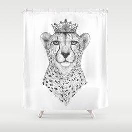 The Queen Cheetah Shower Curtain
