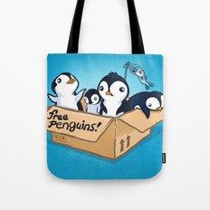 Free Penguins! Tote Bag