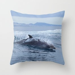 Dolphin: love for waves, love for life Throw Pillow