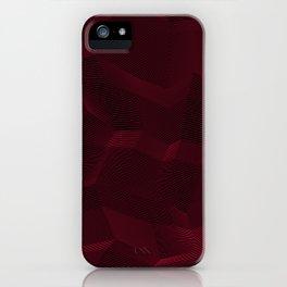Facets - Dark Purple iPhone Case