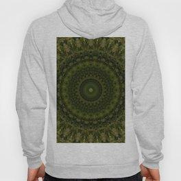 Mandala in olive green tones Hoody