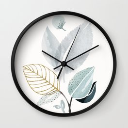 Sage and Such - Abstract Watercolor Botanical Wall Clock