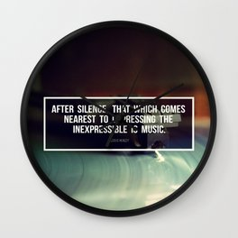 After Silence Wall Clock