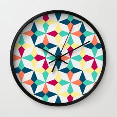 FloralGeometric Wall Clock