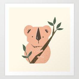 Cute Koala Art Print