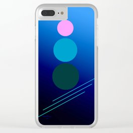 The 3 dots, power game 17 Clear iPhone Case