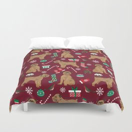 Brussels Griffon christmas holiday pet pattern stockings presents dog breed gifts Duvet Cover