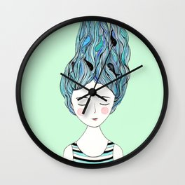Dreaming of whales Wall Clock