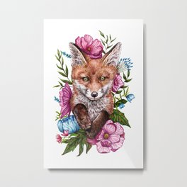 Fox Garden Metal Print