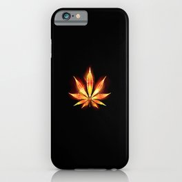 Cannabis Fire Leaf iPhone Case