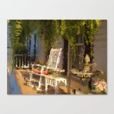 Sun Sets on a Southern Porch Canvas Print
