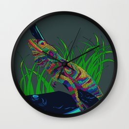 Colorful Lizard Wall Clock