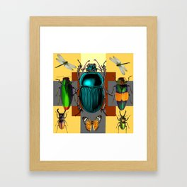 BUGGY INSECT LOVERS ART Framed Art Print