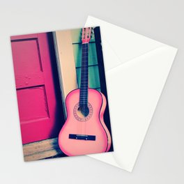Bubblegum Pink Guitar Stationery Cards