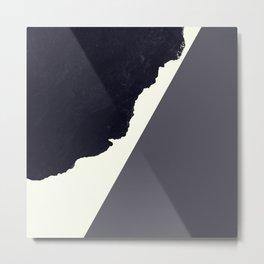 Contemporary Minimalistic Black and White Art Metal Print
