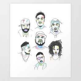 The Rapper-a-Day Project | Week 3 Art Print