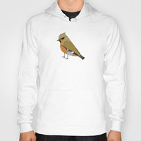 bohemian Hoodies featuring Bohemian Waxwing by MLOR graphic designs