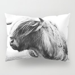 Highland Cow Art Pillow Sham
