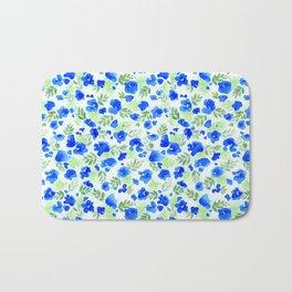 Floret (Blue) Bath Mat