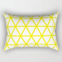 Yellow Triangle Pattern 2 Rectangular Pillow