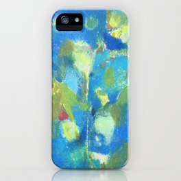 abstract drawing of kalanchoe plant iPhone Case