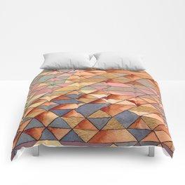 Triangles Circles Golden Sun Comforters