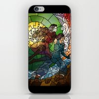 korrasami iPhone & iPod Skins featuring Korrasami - Fighting Duo by Louise Novembre
