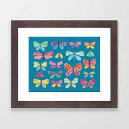Butterfly Collection Framed Art Print