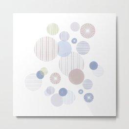 Effervescence in Dusty Blue Metal Print