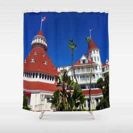 Hotel Del Coronado Facade Shower Curtain