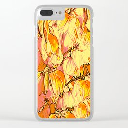 Indian Summer Yucca Flowers Clear iPhone Case