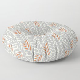 Orange and Grey Wheat Pattern Floor Pillow