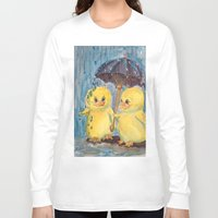 ducks Long Sleeve T-shirts featuring Ducks by Corinne Fallone
