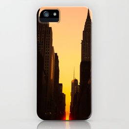 Manhattanhenge along 42nd Street NYC iPhone Case