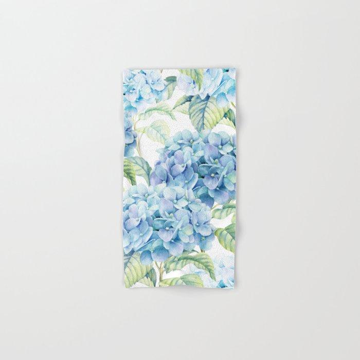 Blue Hydrangea Hand Bath Towel By Julianarw Society6