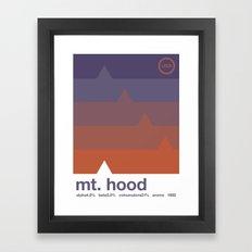 mount hood single hop Framed Art Print