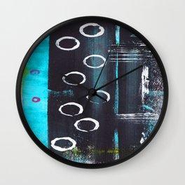 Abstract with Circles Wall Clock