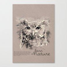 Owl (BornInNature) Canvas Print