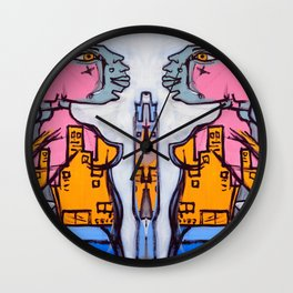 Lizard Lady Wall Clock