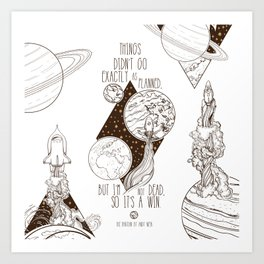 Martian - It's a Win Art Print